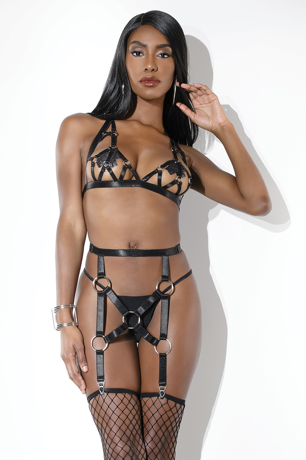 HARNESS BRA & GARTER BELT O/S