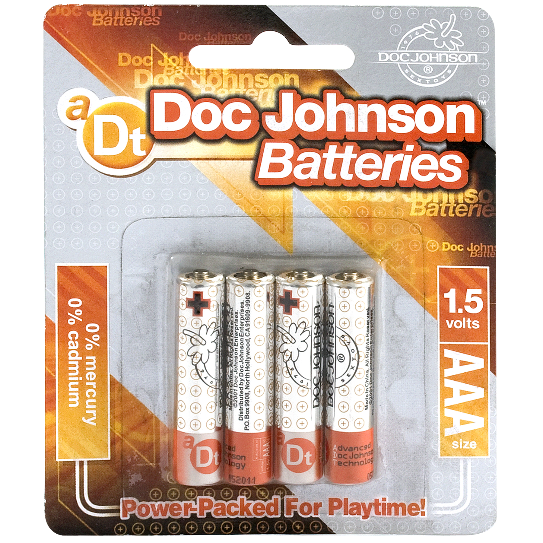 DOC JOHNSON BATTERIES AAA 4 PACK CD