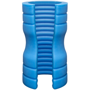 Optimale Silicone Stroker Ribbed Blue