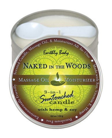 CANDLE 3 IN 1 NAKED IN THE WOODS 6.8 OZ  - EBHSC022