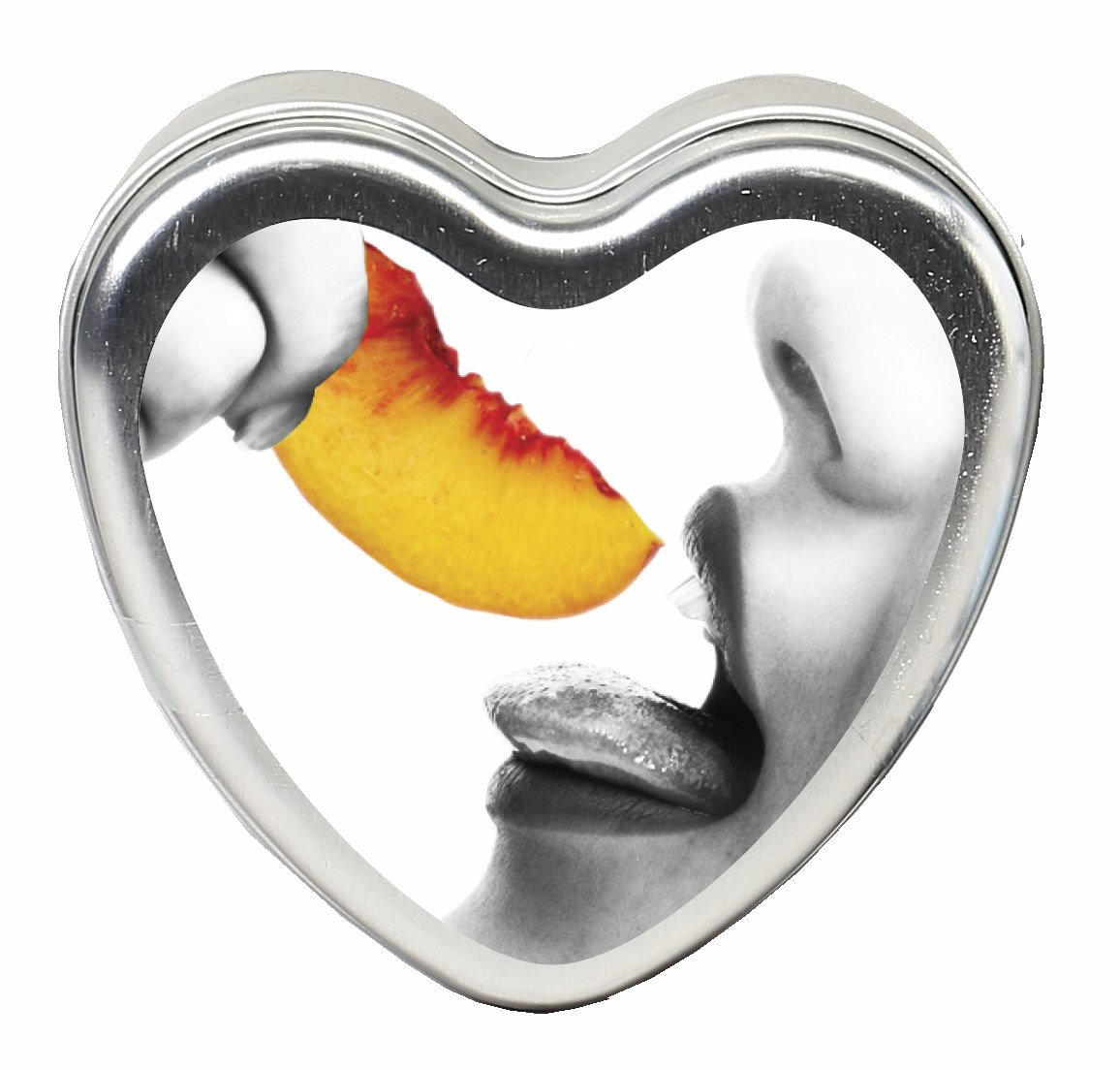 CANDLE 3-IN-1 HEART EDIBLE PEACH 4.7 OZ.  - EBHSCK006