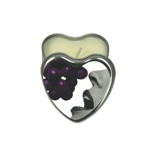 CANDLE 3-IN-1 HEART EDIBLE GRAPE 4.7 OZ  - EBHSCK007