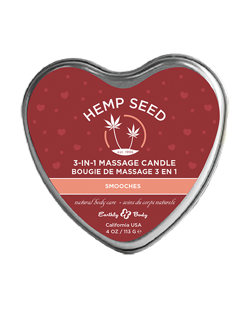CANDLE 3-IN-1 HEART SMOOCHES 4 OZ