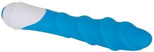 (D) Adam & Eve Twisted Silk Silicone Vibrator Blue