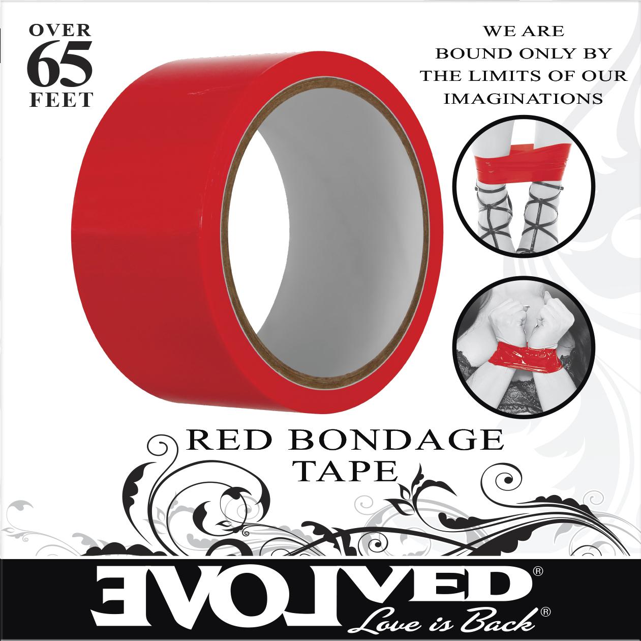 EVOLVED BONDAGE TAPE RED 65 FT