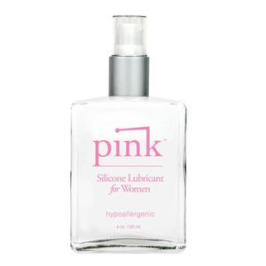 Pink Silicone Lube For Ladies 4 Oz