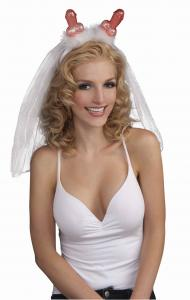 Bachelorette Penis Headband W/Veil