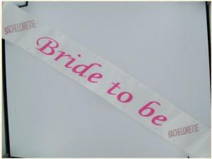 Bride 2b Flash Sash Pink