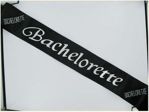 Bachelorette Black Sash