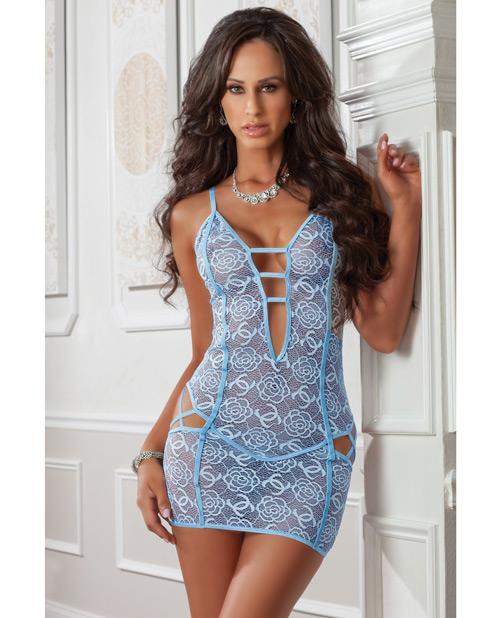 1PC CHEEKY STRAPPY NIGHT DRESS BLUE JAY