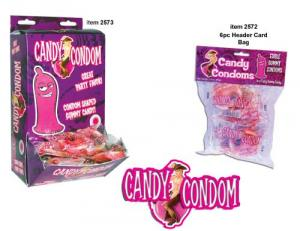Candy Condoms With Header Card