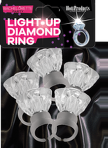 Light Up Diamond Ring 5Pk