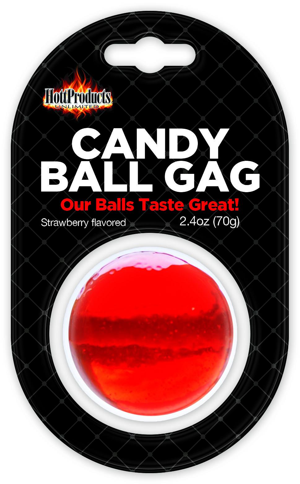 CANDY BALL GAG STRAWBERRY