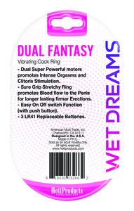 Wet Dreams Dual Fantasy Dual Cock Ring W/ Dual Motors