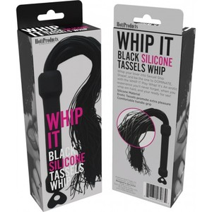 Whip It Black Pleasure Whip W/ Tassels