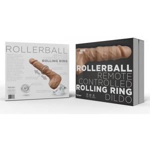 Rollerball Dildo W/ Rolling Ball Function & Suction Cup
