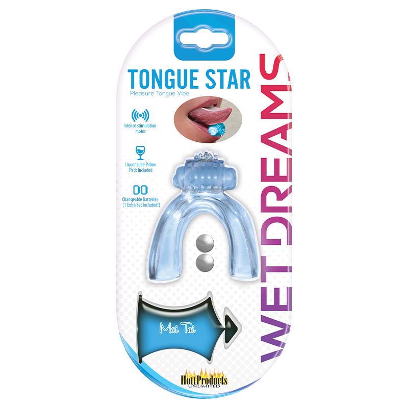 TONGUE STAR TONGUE VIBE BLUE VIBRATING TONGUE WITH MOTOR
