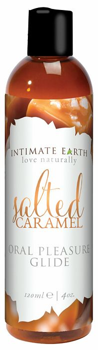 INTIMATE EARTH FLAVORED GLIDE SALTED CARAMEL 4OZ