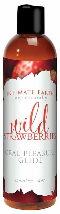 INTIMATE EARTH FLAVORED GLIDE STRAWBERRY 4 OZ
