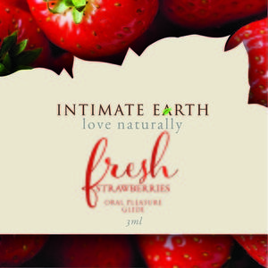 Intimate Earth Strawberry Foil Pack 3Ml (Eaches)