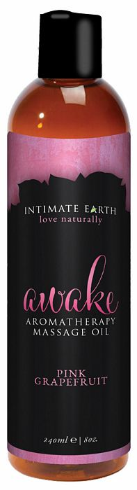 INTIMATE EARTH AWAKE MASSAGE OIL 8OZ