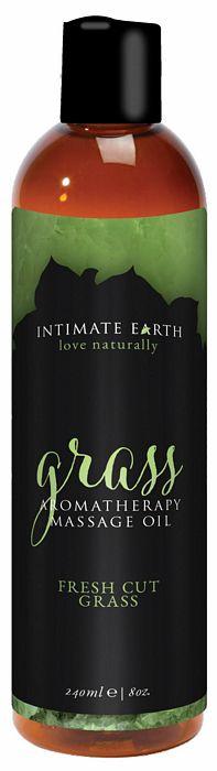 INTIMATE EARTH GRASS MASSAGE OIL 8OZ