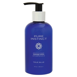 Pure Instinct Pheromone Massage Lotion True Blue 8 Oz