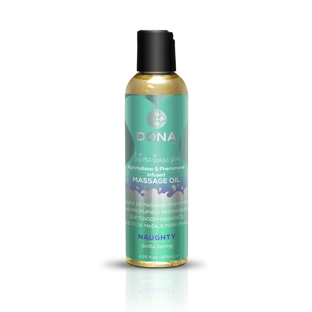DONA MASSAGE OIL NAUGHTY SINFUL SPRING 3.75 OZ