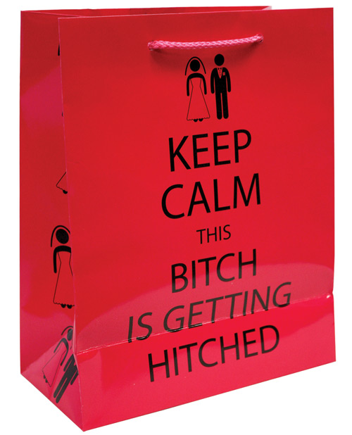 KEEP CALM THIS BITCH IS GETTING HITCHED GIFT BAG