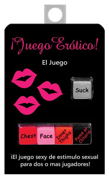 JUEGO EROTICO DICE GAME IN SPANISH