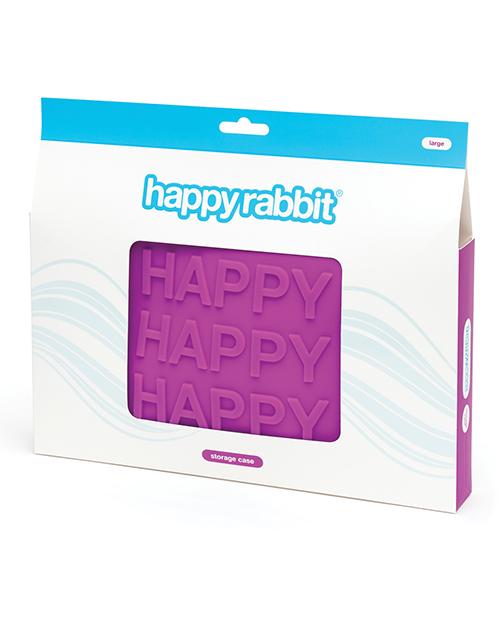 HAPPY RABBIT HAPPY LARGE PURPLE SILICONE ZIP STORAGE BAG