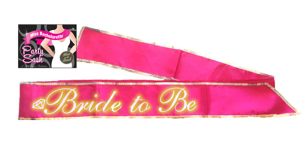 BRIDE TO BE SASH GLOW IN THE DARK