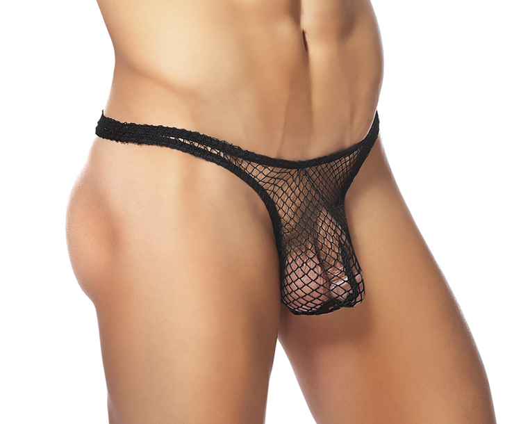 BONG THONG LG/XL BLACK (STRETCH NET)