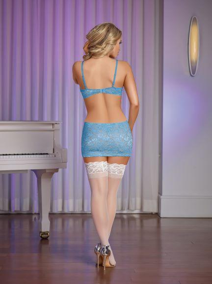 CUTOUT DRESS & G SET MEDIUM LIGHT BLUE - MS116LBL