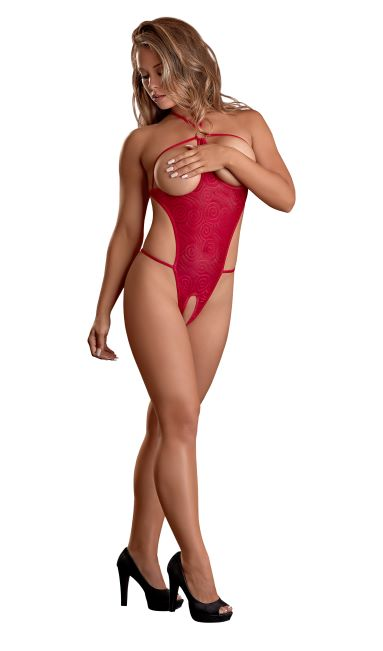 CUPLESS TEDDY SWIRL RED LARGE