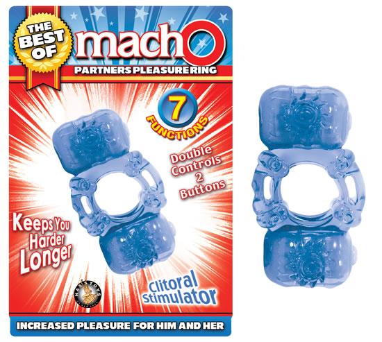 BEST OF MACHO PARTNERS PLEASURE RING BLUE