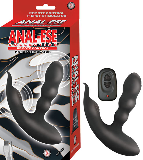 ANAL ESE COLLECTION REMOTE CONTROL P SPOT STIMULATOR BLACK