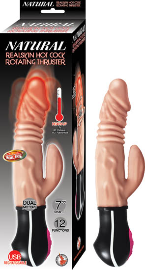 NATURAL REALSKIN HOT COCK ROTATING THRUSTER