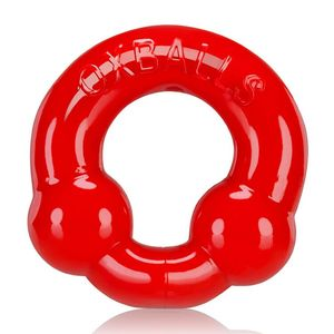 Ultra Balls Cockring 2 Pack Steel/Red (Net)