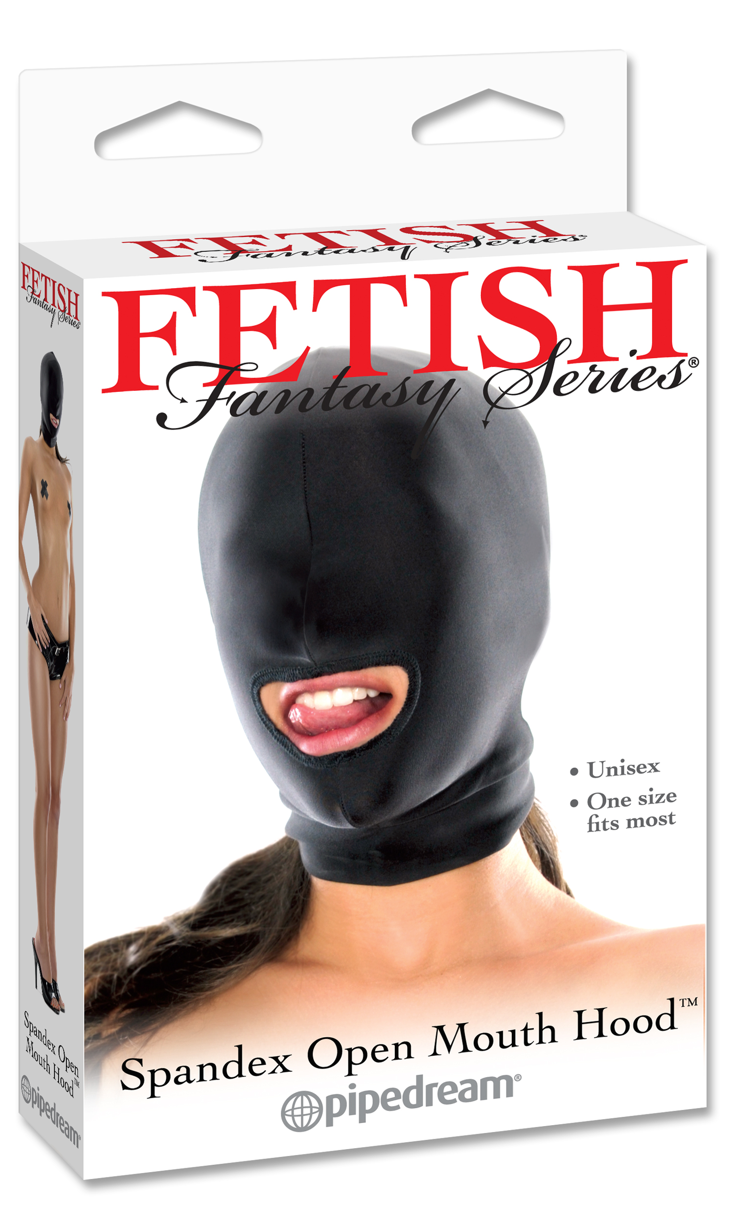 FETISH FANTASY SPANDEX OPEN MOUTH HOOD  - PD385502