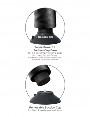 KING COCK DOUBLE PENETRATOR BLACK DOUBLE VIBRATING  - PD541123
