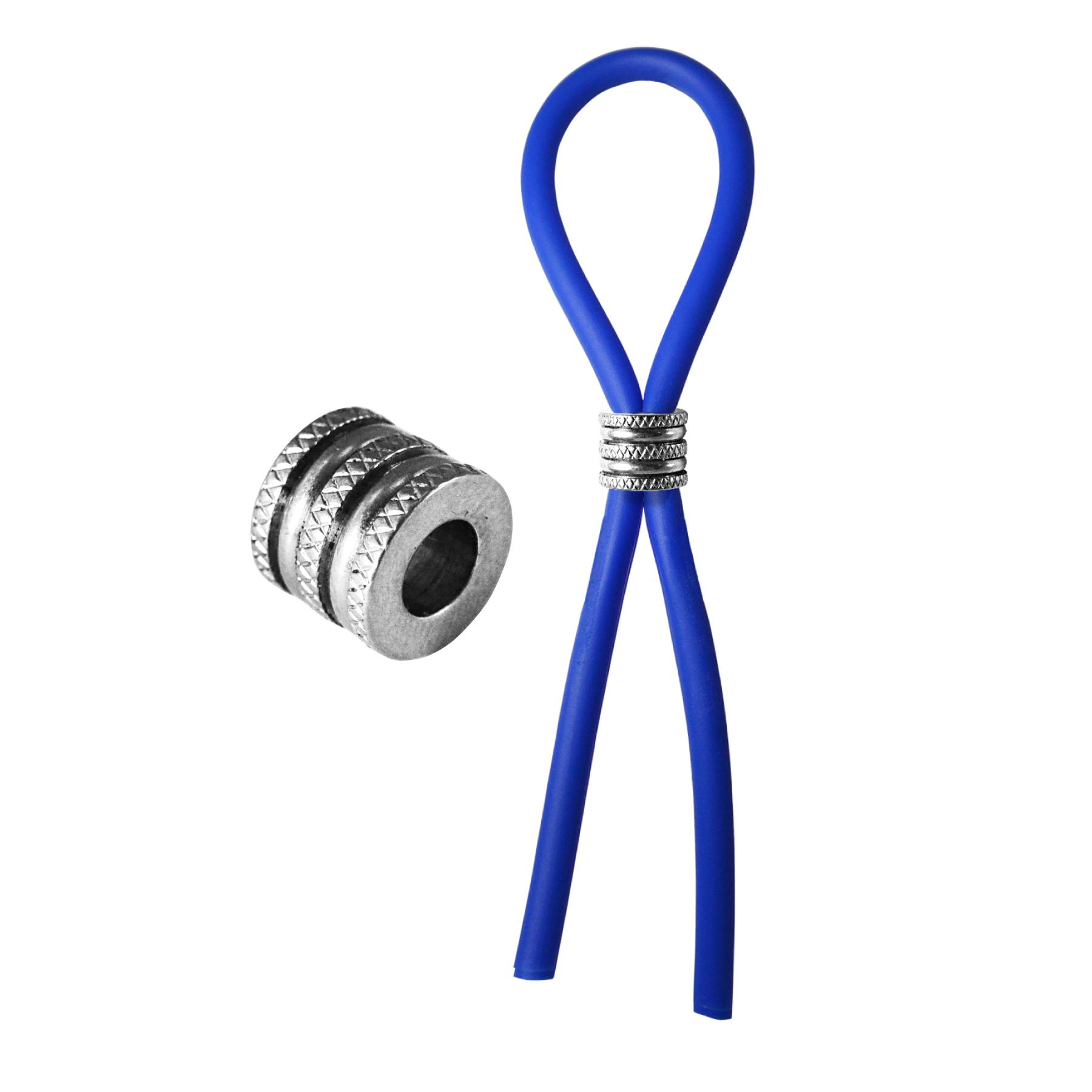 C-RING LASSO CRISS CROSS CAP SILICONE - BLUE - PHSBOL020BLU