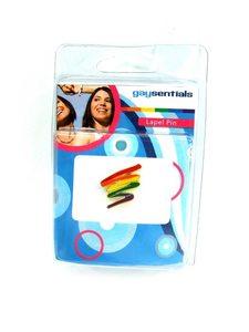 Lapel Pin Rainbow Squiggle