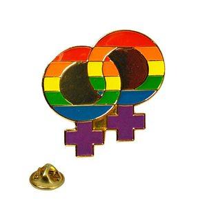 Lapel Pin Rainbow Double Female