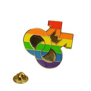 Lapel Pin Rainbow Double Male