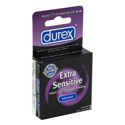 DUREX EXTRA SENSITIVE LUBRICATED 3PK  - R129
