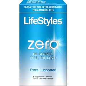 Lifestyles Zero Extra Lubricated 12 Pk