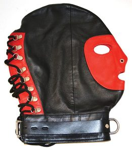 Mask W/Collar Black/Red