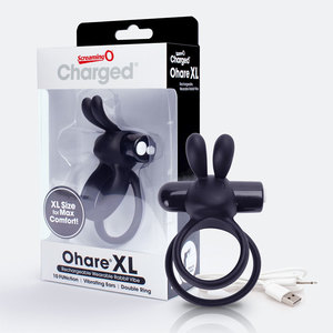 Screaming O Charged Ohare Xl Black Rechargeable 6 Count
