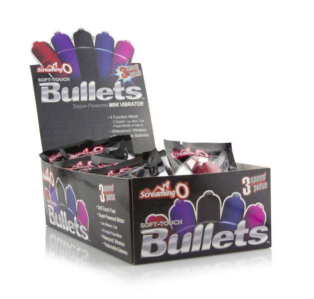 SCREAMING O 3N1 SOFT TOUCH BULLETS 20PC DISPLAY
